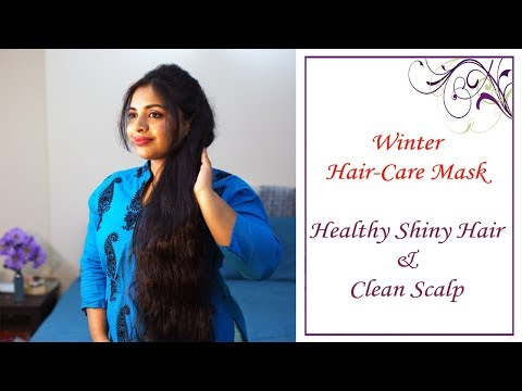 Winter Hair Care Mask for Healthy Shiny Hair & Clean Scalp