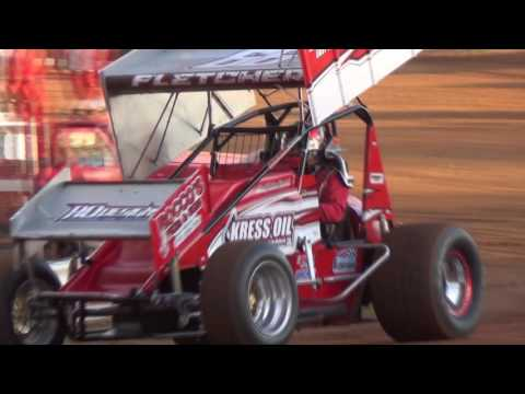 Lincoln Speedway 410 and 358 Sprint Car Highlights 05-14-16
