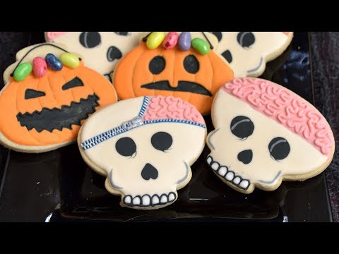 How To Make SKULL BRAIN COOKIES for HALLOWEEN