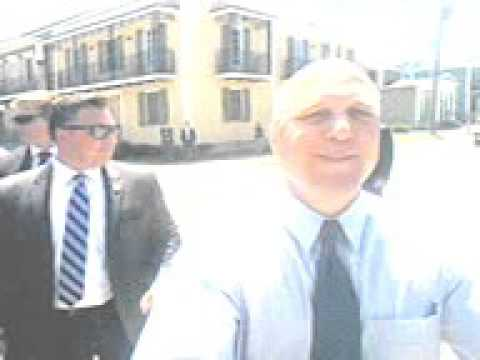 President Obama and Mayor Mitch Landrieu in the Lafitte Project