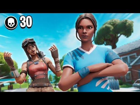 Solo V.S. Trios 33 Kill *Game Fortnite Battle Royale Arena*