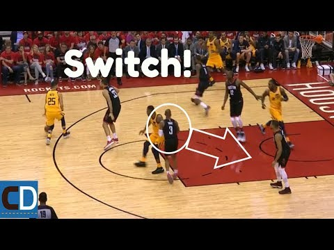The Jazz Offense vs The Rockets Switching Defense In Game 1