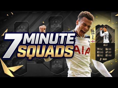 INSANE 86 RATED INFORM DELE ALLI 7 MINUTE SQUADS!! (FIFA 18)