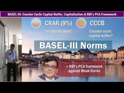 Banking: PCA Framework, Countercyclical Capital Buffer (CCCB) & BASEL-III Capitalization Norms