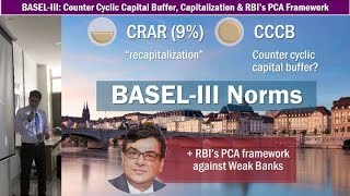 Banking: PCA Framework, Countercyclical Capital buffer (CCCB) & BASEL-III Capitalization Norms