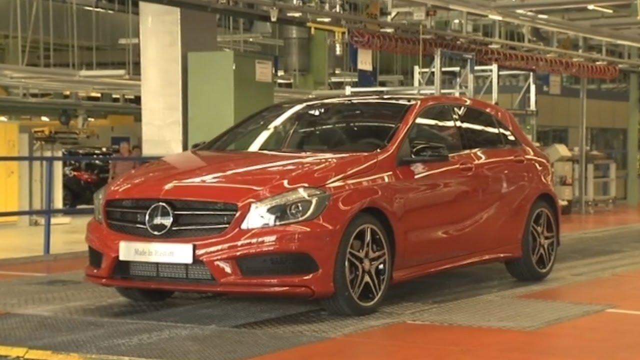mercedes-benz a-class production at the rastatt plant - youtube