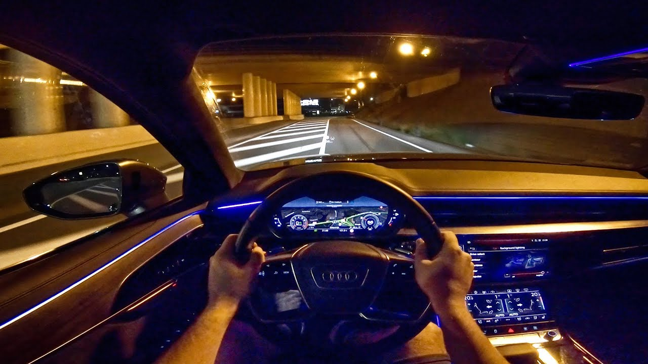 2019 Audi A8 Ambient Lighting Night Drive Pov By Autotopnl Youtube