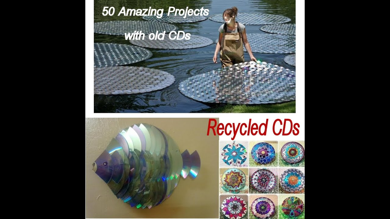 50 amazing projects with old cd 180 s youtube