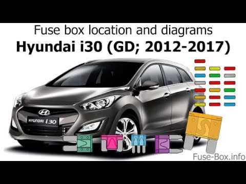 fuse box location and diagrams hyundai i30 (gd; 2012 2017) youtubefuse box location and diagrams hyundai i30 (gd; 2012 2017)