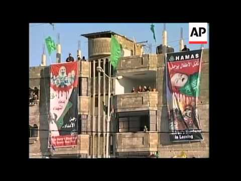 Hamas supporters rally to show support for candidates in elections