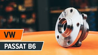 rear and front Wheel bearing kit installation VW PASSAT: video manual