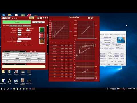 XEON X3440 3 8GHz / DRAM 2015MHz! Benchmark CPU & MEMORY & TEMP TEST