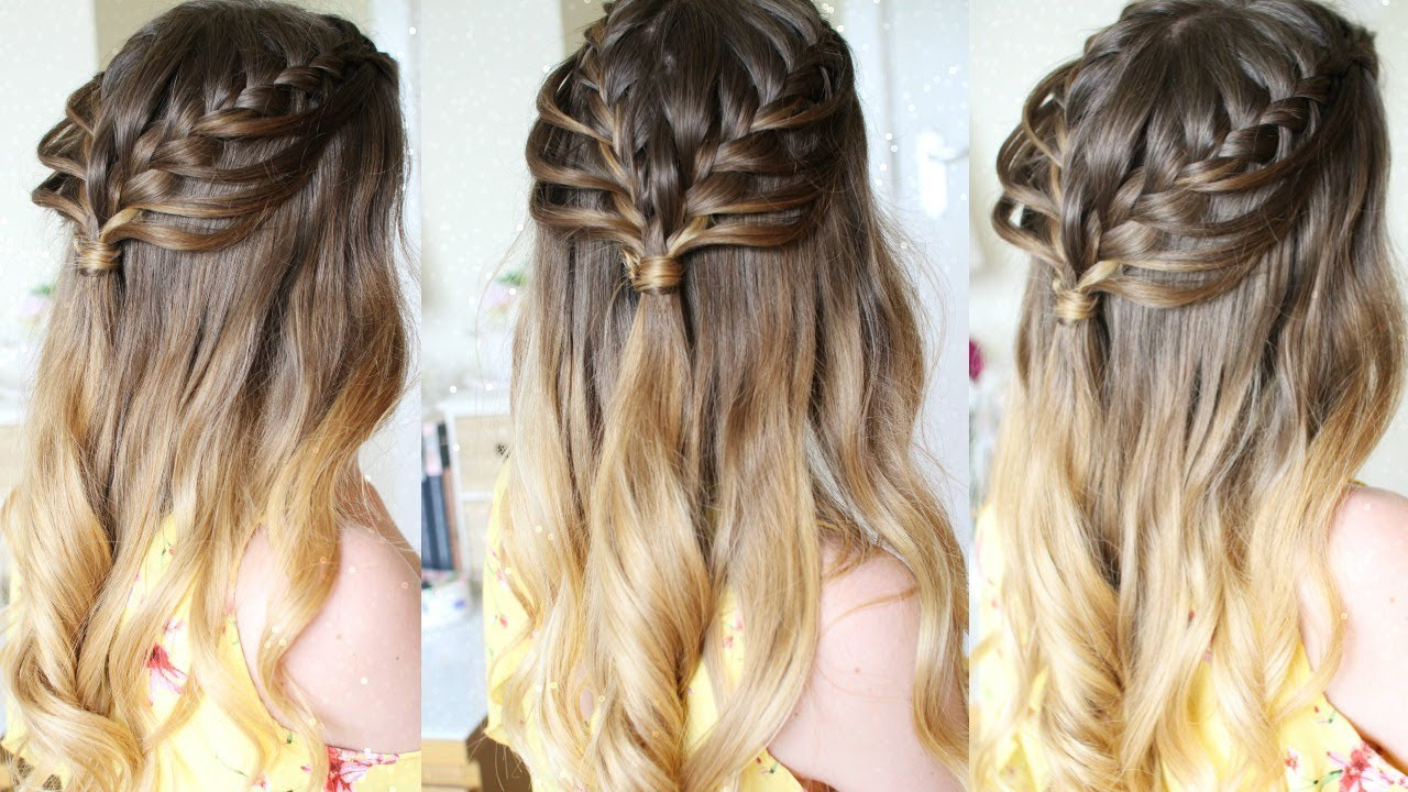 Half Up Half Down Loop Braid Hairstyle Braidsandstyles12 Youtube