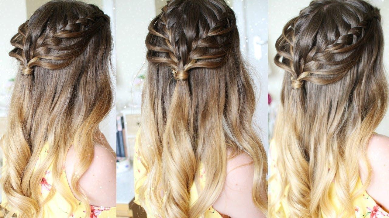 Hairstyles Braids Half Up: Half Up Half Down Loop Braid Hairstyle