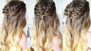 Half Up Half Down Loop Braid Hairstyle   Braidsandstyles12
