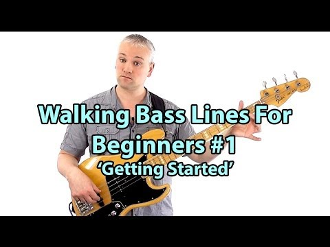 How To Play Walking Bass Lines - Bass Lessons Online