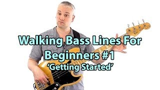 how to play walking bass lines bass lessons online