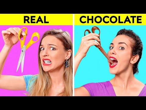 REAL VS CHOCOLATE