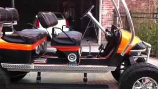 Bad Ass Golf Cart, Lifted Ez-go Golf Cart By Big Daddy Greg!