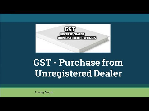Gst Purchase From Unregistered Dealer In Hindi Youtube