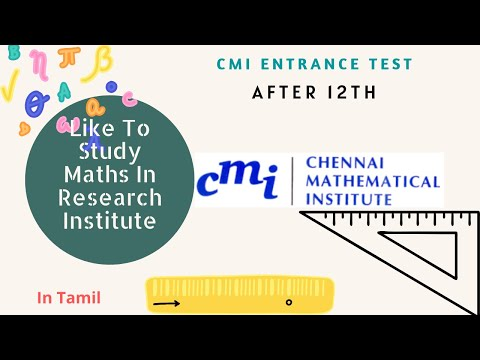CMI Entrance Exam 2020| Chennai Mathematical Institute| Bsc(Hons) In Mathematics | After 12th |