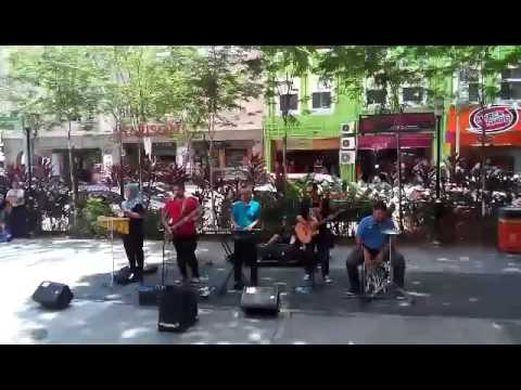 kuala lumpur street music. sogo shopping center