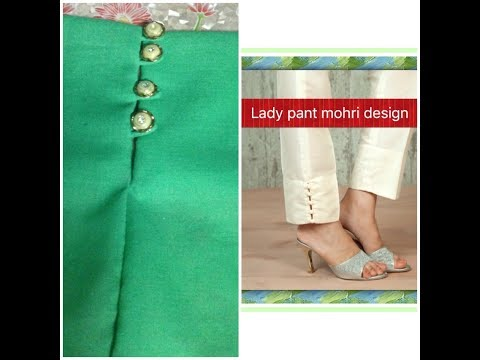 Ladies pant (Trousers) design cutting and stitching