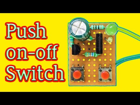 Push On-off Switch With Transistor || By Es Tech Knowledge