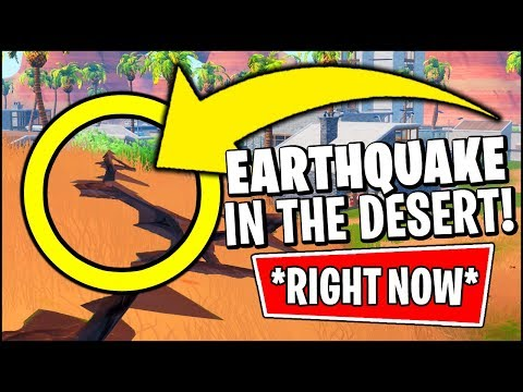 🔴 Fortnite *SMALLEST* Earthquake IS HAPPENING *RIGHT NOW* (Fortnite Earthquake Event Season 8)