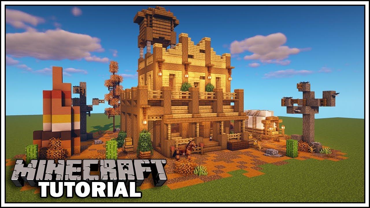 Minecraft Badlands Biome Western House Tutorial