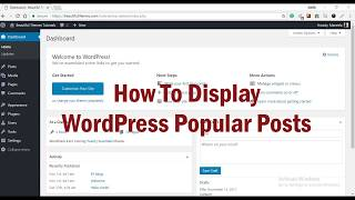 How to display WordPress Popular Posts: Beginners' Guide
