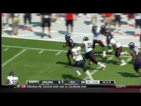 Trevone Boykin 40 Yard Run TCU Horned Frogs vs Virginia 2012