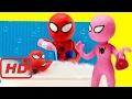 Pink Spidergirl Spiderman & Spiderbaby Bathtime Baby Bath Time Stop Motion Superheroes Prank Videos