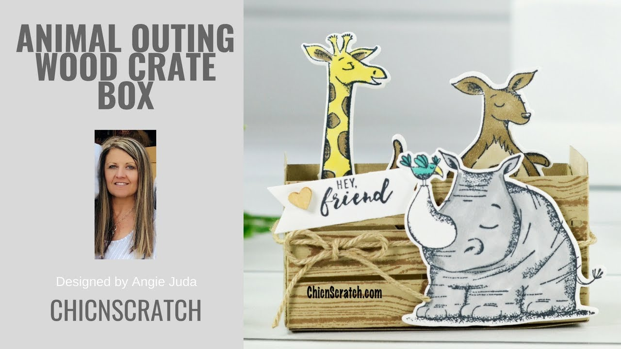 Animal Outing Wood Crate Box - Chic n Scratch Live 64