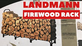 landmann 8 foot firewood rack with cover review