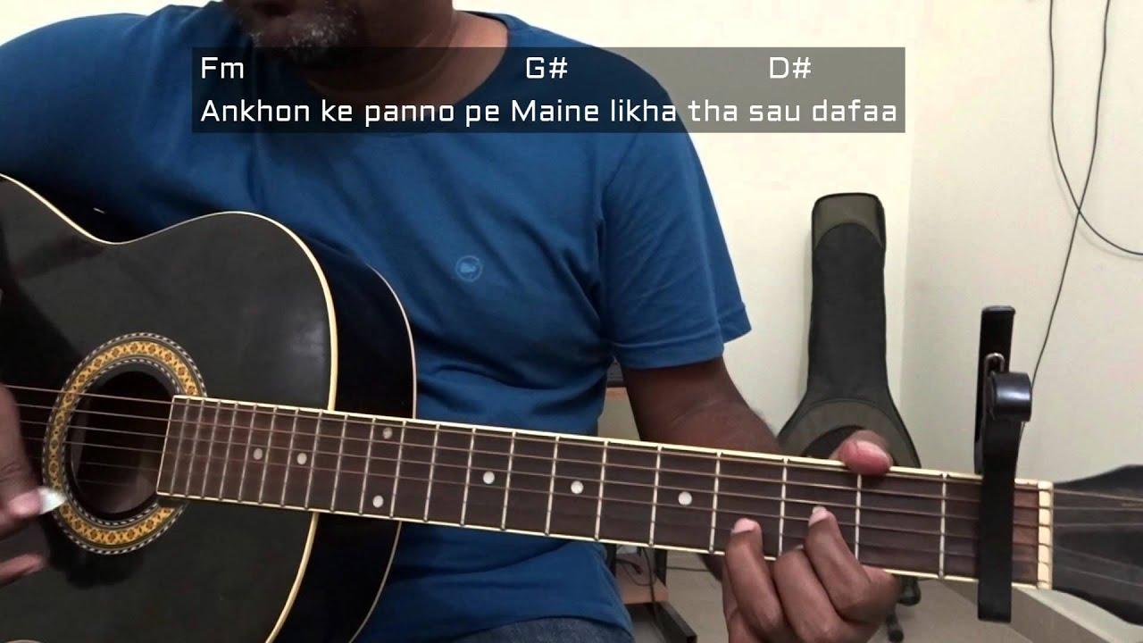 Guitarlessonsdinos Main Hoon Hero Tera Guitar Chordstutorial Fm