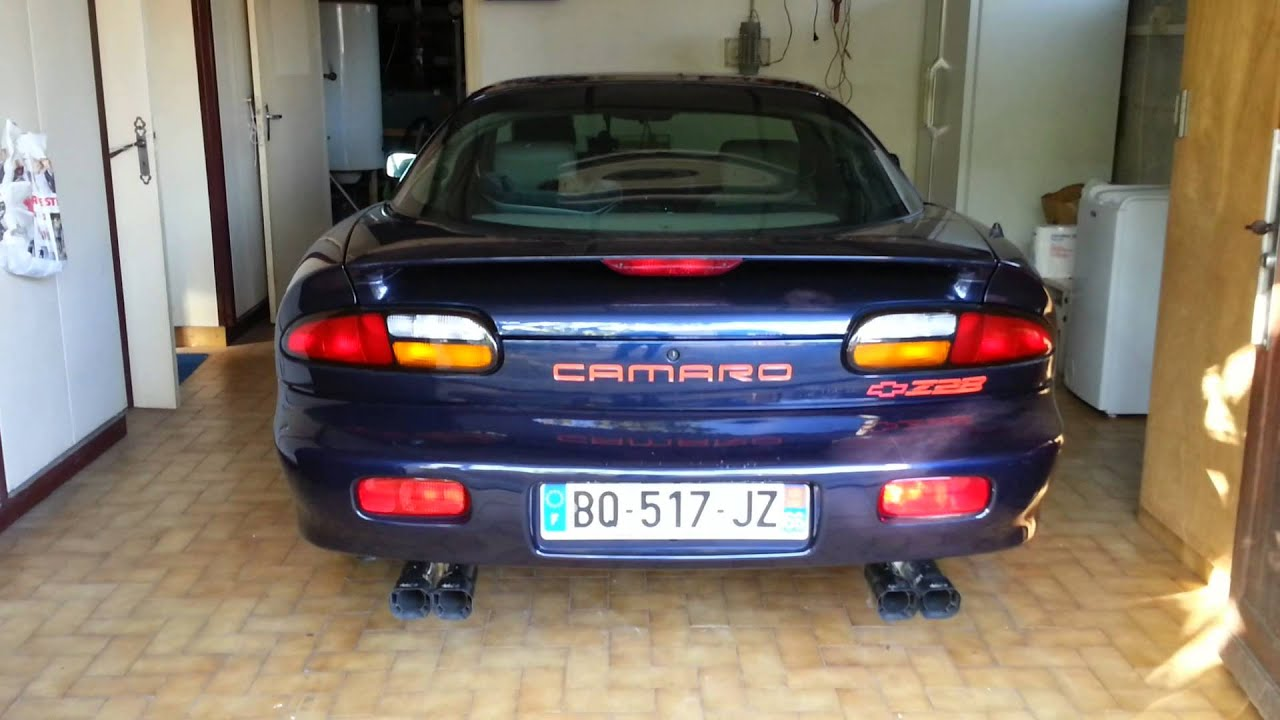 Chevrolet Camaro Z28 2001 with Borla Exhaust  YouTube