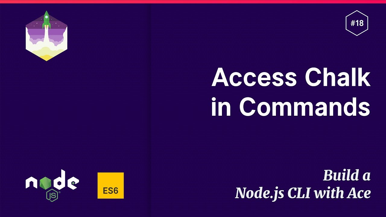 18 Access Chalk in Ace Commands \u2014 Build a Node.js CLI with Ace - YouTube