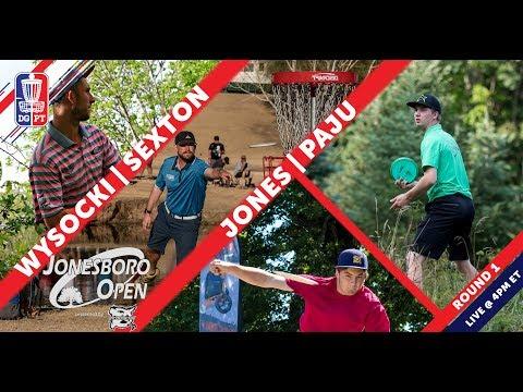 Round One 2018 Jonesboro Open presented by Prodiscus   Wysocki, Sexton, Jones, & Paju