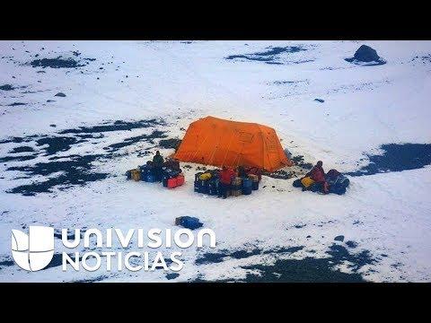 El rescate de la armada argentina a los científicos de EEUU varados en la Antártida