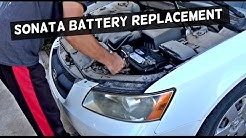 HYUNDAI SONATA BATTERY REMOVAL & REPLACEMENT | Hyundai Sonata 2006 2007 2008 2009 2010 2011