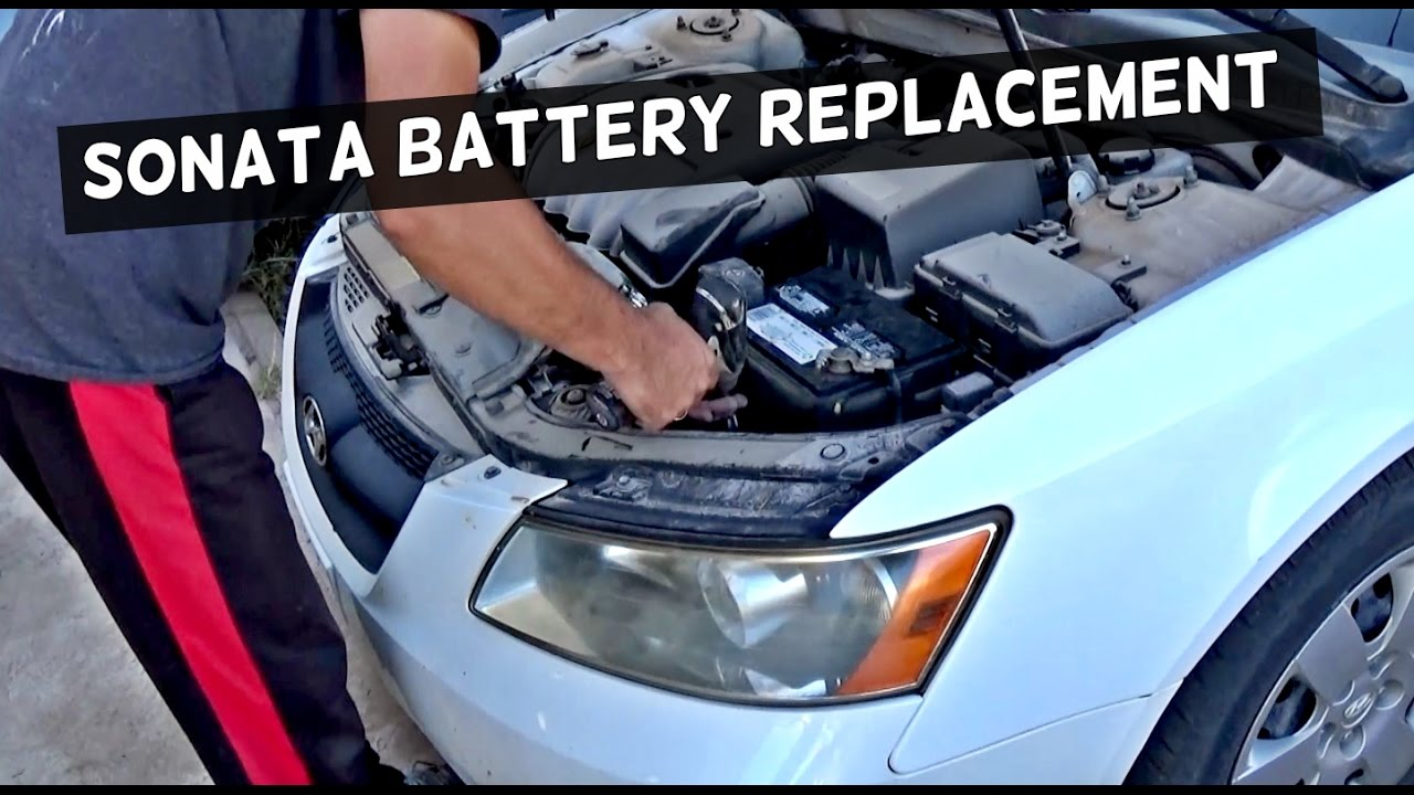 Hyundai Sonata Battery Removal Replacement 2006 2007 2008 2009 2010 2017 You
