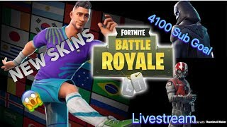 Fortnite LiveStream ( Block buster SKIN?!?!? ) ^0^ Sub GOAL 4100