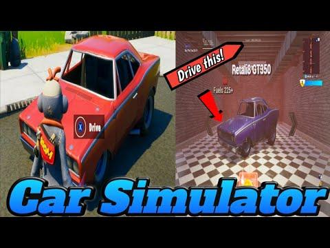 How To Drive Cars In Fortnite Creative Fortnite Cars Simulator Drive Cars Early Youtube