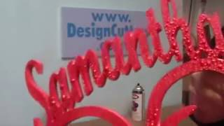 Spray painting styrofoam centerpieces and crafts, styrofoam letters and numbers