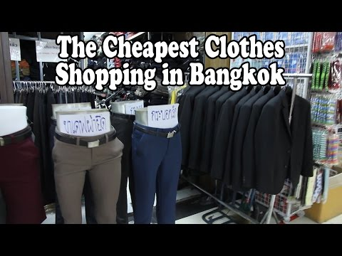 The Cheapest Clothes Shopping in Bangkok: Bobae Market. A To