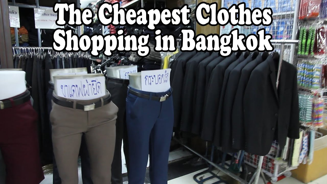 The Cheapest Clothes Shopping in Bangkok: Bobae Market. A ...
