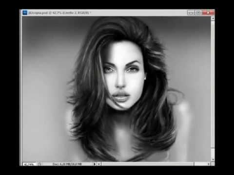 angelina jolie  speed painting    by a.o.s  8-12-2010