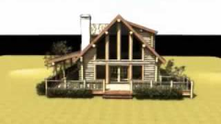 The Quinn: Log Home Design By Gravitas: Log Cabin Plan Hunting Retreat