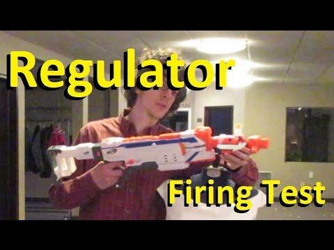 Nerf Modulus REGULATOR Firing Tests at 25 and 50 Feet!